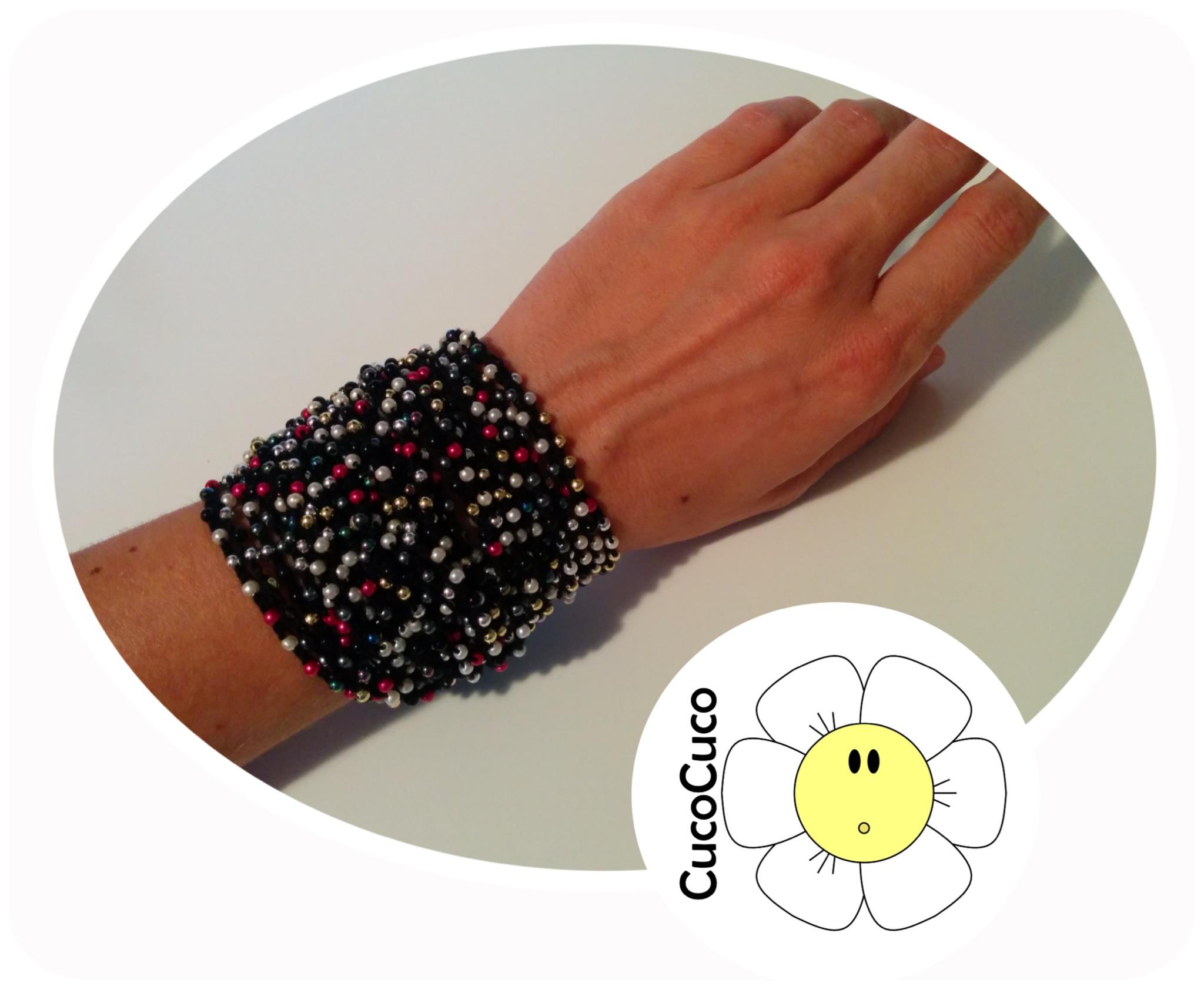 pulsera brazalete crochet o ganchillo patrón – CucoCuco