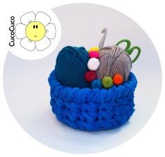 cesta trapillo redonda crochet
