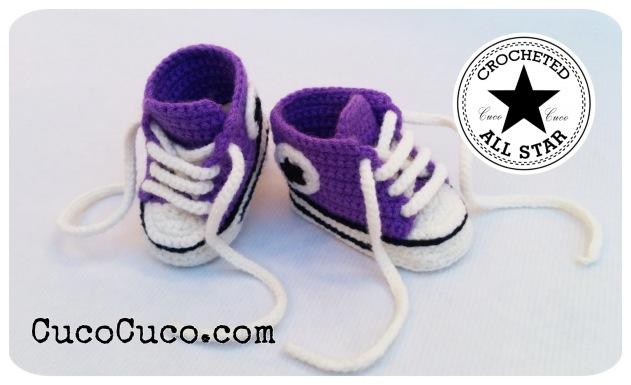patucos bebe crocheted all star 1