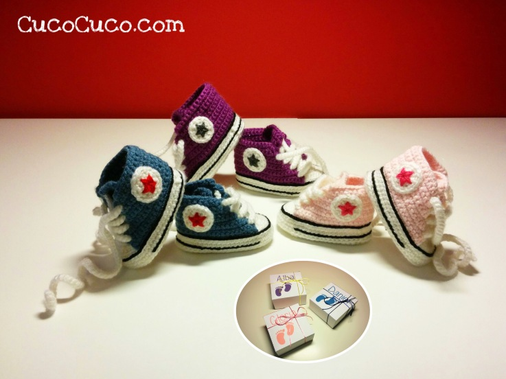 Patucos All Star Converse Crochet