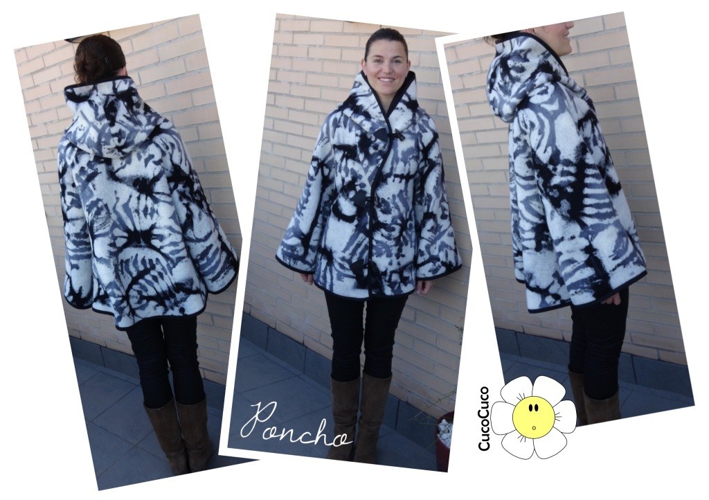 Poncho parka patrón gratis - Blanket Coat free pattern