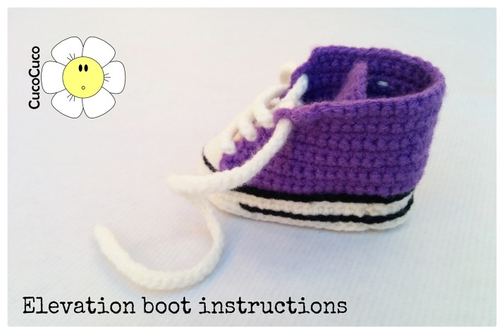 baby shoes crocheted all star elevation boot