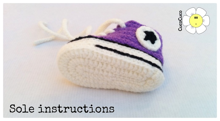 baby shoes crocheted all star sole
