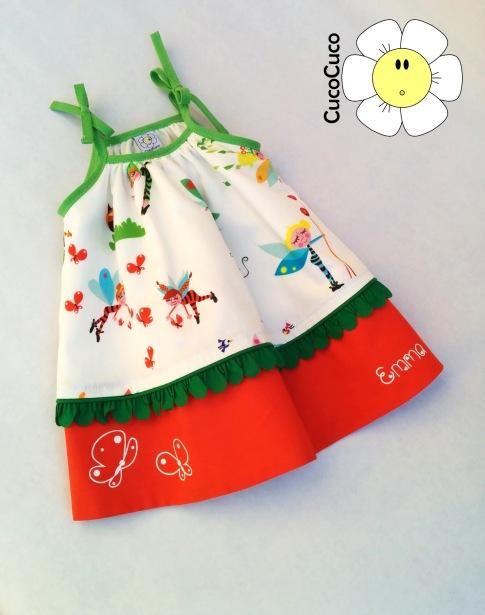 Vestido tirantes niña CucoCuco eshop