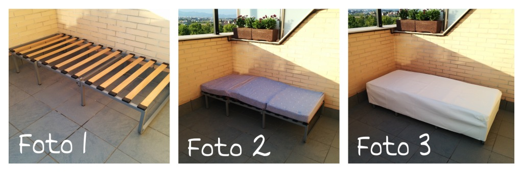 Transformaci n de puf a sof cucocuco - Colchones para terraza ...