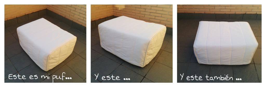 Hacer sofá para la terraza - Transformación de puf a sofá