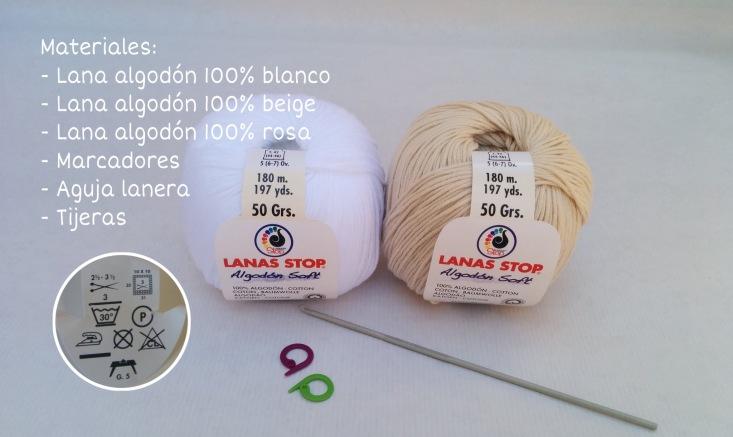 Alpargatas o sandalias tejidas a crochet materiales